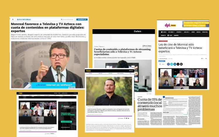 Lee las reseñas en prensa sobre el foro sobre la Ley Federal de Cinematografía y el Audiovisual